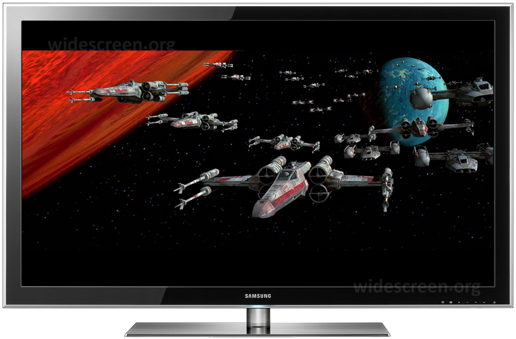 'Star Wars' properly shown on a 16:9 TV