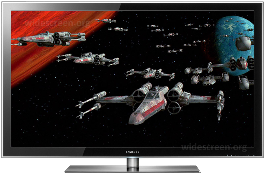 'Star Wars' improperly shown on a 16:9 TV